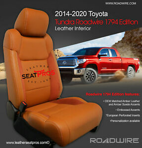 Roadwire Leather Seat Covers 14 20 Tundra Crewmax Double Cab 1794 Edition Amber