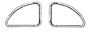 Ford Mercury Coupe Fordor Kick Out Rear Quarter 1 4 Window Seal Set 1941 1948