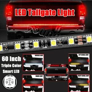 60 Redline Triple core Led Tailgate Strip Running Reverse Turn Signal Light Kit