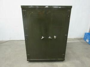 The General Fireproofing Co Large Vintage Combination Safe 35x20x50 Inside Dims