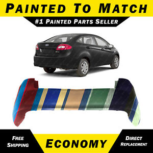 New Painted To Match Rear Bumper Cover For 2011 2012 2013 Ford Fiesta Sedan