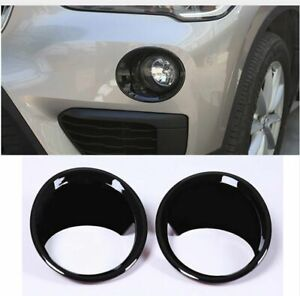 For Bmw X1 F48 Black Front Fog Light Lamp Cover Ring Trim 2016 2019 2pcs