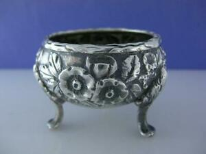 Sterling S Kirk Son Co Salt Cellar Dish Repousse 925 1000 Baltimore No Mono
