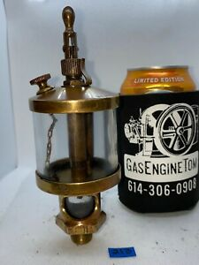 Gb Essex Brass Co Cylinder Oiler Hit Miss Gas Engine Steampunk Vintage Antique