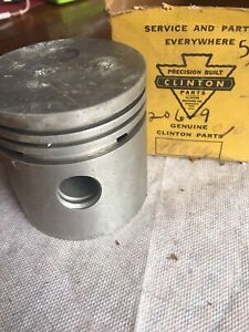 Vintage Clinton Gas Engine Motor Part New Old Stock Piston 16001a 206 9 010 I