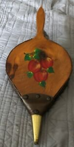 Vintage Antique Fireplace Bellows Hearth Woodstove Tool Wood Leather 19 Inch