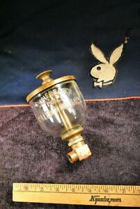 Original Rare Lonergan s Wine Glass Hit Miss Gas Engine Brass Rod Oiler