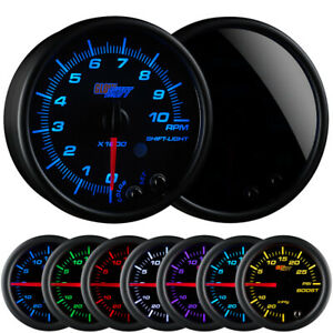 95mm Glowshift Tinted 7 Color In Dash Tachometer Gauge W Shift Light