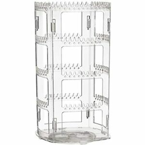 360 Rotating Earring Holder And Jewelry Organizer 4 Tiers Rack Display Classic