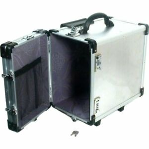 Aluminum Carrying Travel Case Rolling Box Jewelry Display