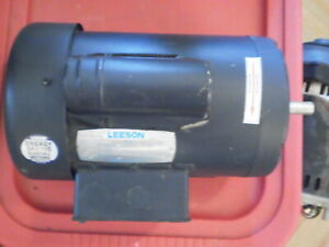 2hp 3450rpm Single Phase 56h Tefc 115 208 230v Leeson Electric Motor 110352 00