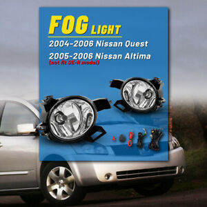 Oe Factory Fit Fog Lights For 05 06 Nissan Altima Pair Bumper Witing Kit Switch