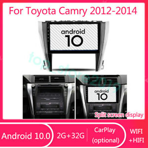 Android 10 0 2 32g Hifi Car Dvd Player Stereo Radio Gps For Toyota Camry 2012 14
