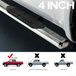 4 Oval Chrome Side Step Nerf Bars Running Boards For 01 04 Tacoma Double crew