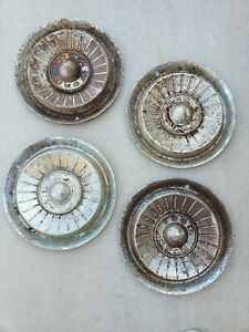 Rusty 1957 Ford Car Original Hubcap 14 Wheelcover Set Of 4 Free Shipping