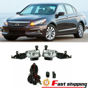 Fit 2011 2012 Honda Accord Pair Assembly Fog Lights Replacement Driving Lamp