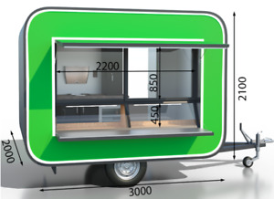 Food Truck Mobile Catering Trailer Coffee Vintage Style modern 118x82 6 In