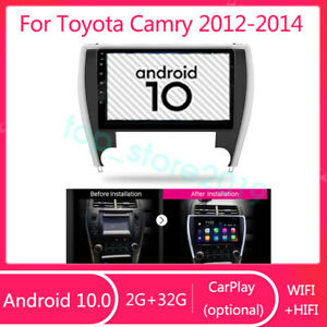 For Toyota Camry 2012 2014 Android 10 0 2g 32g Hifi Car Dvd Player Radio Gps