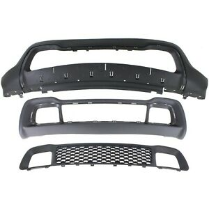 Bumper Cover Kit For 2014 2016 Grand Cherokee Front Textured Capa