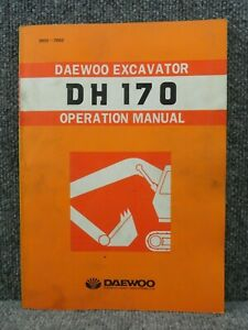 Oem Factory Daewoo Dh 170 Excavator Operation Manual 2022 7052