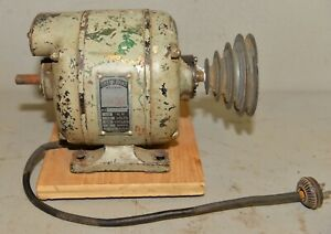 Early Cast Iron Green Band Walker Turner Collectible Lathe Motor 1 3 Hp Tool