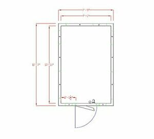 American Panel 8x12c o 8 X 12 Outdoor Walk in Cooler Without Floor Remote