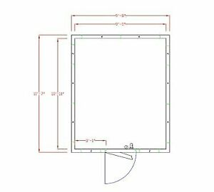 American Panel 10x12c o 10 X 12 Outdoor Walk in Cooler Without Floor Remote