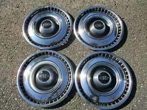 Factory Original 1967 Buick Riviera 15 Inch Hubcaps Wheel Covers