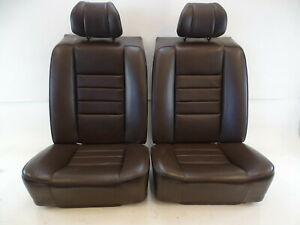 87 Mercedes W126 560sec Seats Rear Brown