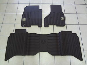 13 18 Dodge Ram Mega Cab New Slush All Weather Mats Front Rear Black Mopar Oem