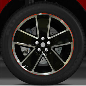 21x8 5 Factory Front Wheel Black W Red For 2012 2015 Chevy Camaro