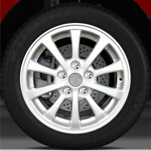 16x6 5 Factory Wheel Bright Sparkle Silver For 2010 2011 Mitsubishi Lancer