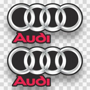 2x Audi Sticker Decals Vinyl Logo Euro Racing Sports Car