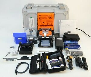 Sumitomo Type q101 m12 Sm Mm Mass Ribbon Fiber Fusion Splicer W Cleaver Gc 6rm