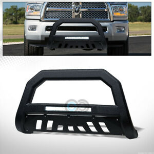 Fits 10 18 Dodge Ram 2500 Textured Black Avt Aluminum Led Bull Bar Grille Guard