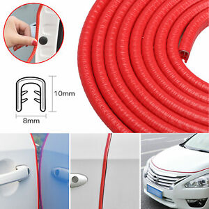 3m 10ft Molding Rubber Seal Strip Trim Car Door Edge Guard Protector U Shape Red