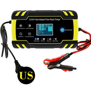 Battery Charger 12v 24v For Car Truck Motorcycle Battery Charger 150ah 4a 8a