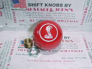 Ford Engraved Cobra Image 2 Ford Licenced Shift Knob Red