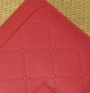 Compact Franklin Covey new signature Red Leather 1 Rings Planner binder