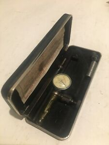 Vintage L s starrett No 711f last Word Dial Test Indicator 001 With Case
