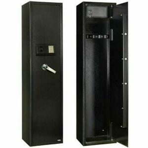 57 Mechanical 5 Gun Safe Rifle Shotgun Security Tall Box Large Electronic Lock