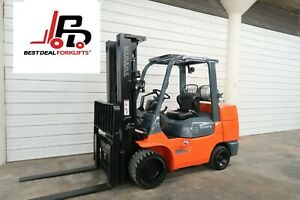 4 Refurbished 2013 Toyota 7fgcu45 Lpg Forklifts 10 000lb Cap 2200 4200 Hours