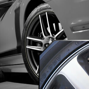 Wheel Bands Silver In Black Pinstripe Edge Trim For Ford Mustang 13 22 Rims