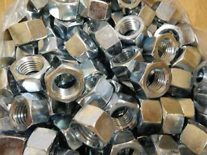 Lot Of 200 36320 S02 981112 1 8 Zinc Finish Grade 5 Finished Hex Nut T84011
