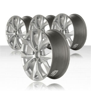Revolve 17x7 Machined And Silver Wheel For 2012 2013 Honda Civic Set Of 4