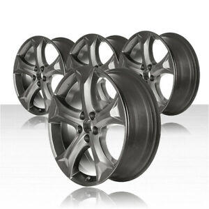 Revolve 20x7 5 Smoked Hypersilver Wheel For 2009 2015 Toyota Venza set Of 4