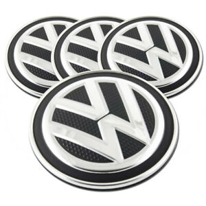 Black Center Caps W volkswagen Logo For 15 16 Volkswagen Golf 2 63 set Of 4