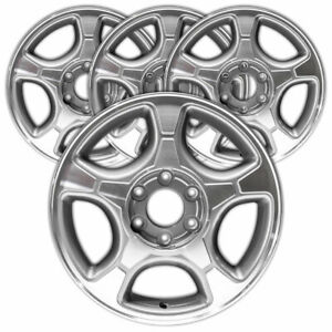 17 Machined medium Gray 1 Rim By Jte For 2004 09 Chevy Trailblazer set Of 4