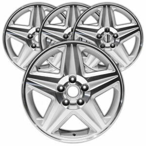 17 Mach d silver Rim By Jte For 2004 2005 Chevy Monte Carlo 17x6 5 set Of 4