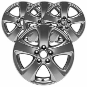 17 Polished Silver Rim By Jte For 2011 2017 Toyota Sienna 17x7 Set Of 4